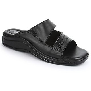 Coolers Classy Mens Black Formal Slippers