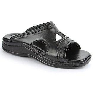 Coolers Voguish Mens Black Formal Slippers