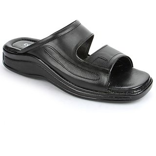 Coolers Instyle Mens Black Formal Slippers