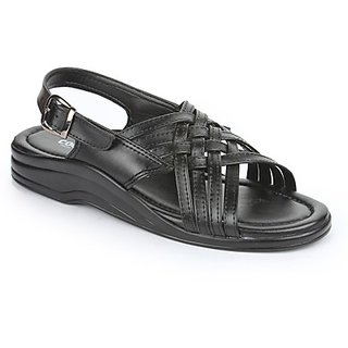 Coolers Voguish Mens Black Formal Sandal