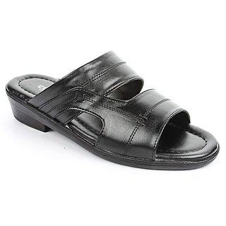 Coolers Mens Voguish Black Formal Slippers