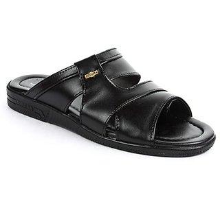 Coolers Mens Superb Black Formal Slippers