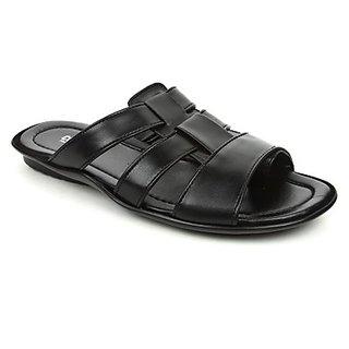 Coolers Mens In Trend Black Formal Slippers