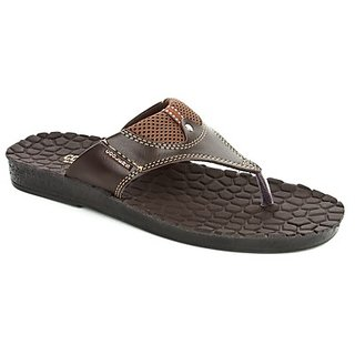 Coolers Stylish Mens Brown Casual Slippers