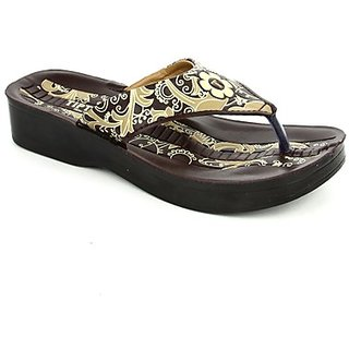 Tiptopp Voguish Women Brown Casual Slippers