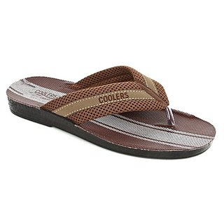 Coolers Voguish Mens Brown Casual Slippers