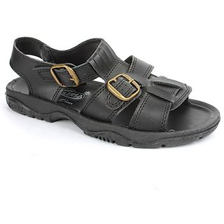 Coolers Mens Black Casual Sandal