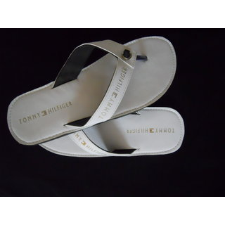 White Slippers Tommy Hilfiger