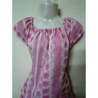 Pink Printed Cotton Top