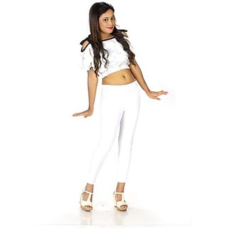 TrendBAE Tied -Up Off Shoulder Crop Top - White