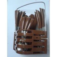 24 Pcs Rosa Cutlery Set