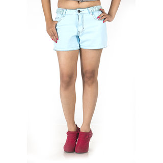 TrendBAE Super Chic Hot Pants - Turquoise Blue