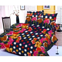 Collections Color Of Dream 100% Cotton Double Bedsheet - 6708224