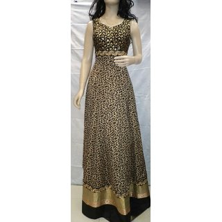 Shagun Lifestyle Party Wear Tiger Print Gown