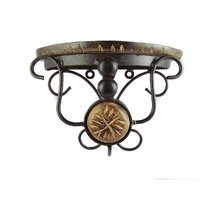 Fancy Wood Wrought Iron Home Office Wall Decor Bracket Holder Gift Item Beauty