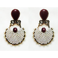 MB Designer Earring Metal, Alloy Danglers & Drops Hoops MB9005