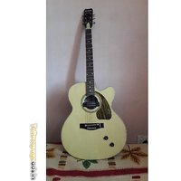 Givson Venus Rose Model Guitar (semi Acoustic Guitar With Pick Up & Tone Volume)