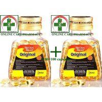 Combo Of 2 Sevenseas Cod Liver Capsules (100 +100 Capsules) - 6714730