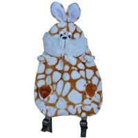 KinderGarden Play School Bag Brown & White Dotted Design