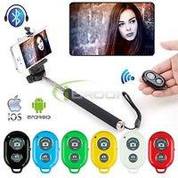 Extendable Self Portraits Selfie Stick Handheld Monopod With Bluetooth Shutter