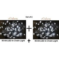 CHRISTMAS / New Year - Set Of 2 FESTIVAL LIGHTS 80-84 LED Color : WHITE