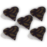 Cushion Fillers Set Of 5 Silk Cotton  With Velvet Cover- Dark Brown Color Heart