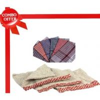 Combo Of 4 Kitchen Napkins & 2 Multi Utility Duster