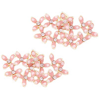 Young & Forever Pink Floral Double Earrings For Women By Crazeemania