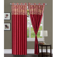 Homesazawat Beautiful Set Of 2 Eyelet Door Curtain(4x7ft) - 6766906