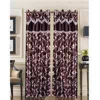 Homesazawat Beautiful Set Of 2 Eyelet Door Curtain(4x7ft) - 6767052