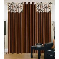 Homesazawat Beautiful Set Of 3 Eyelet Door Curtain(4x7ft) - 6768218