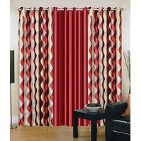 Homesazawat Beautiful Set Of 3 Eyelet Door Curtain(4x7ft) - 6768024