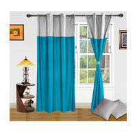 Homesazawat Beautiful Set Of 2 Eyelet Door Curtain (4x7ft)