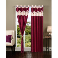 Homesazawat Beautiful Set Of 2 Eyelet Door Curtain(4x7ft)