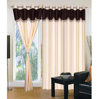 Homesazawat Beautiful Set Of 3 Eyelet Door Curtain(4x7ft) - 6769368