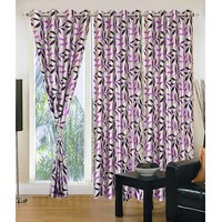 Homesazawat Beautiful Set Of 3 Eyelet Door Curtain(4x7ft) - 6769724
