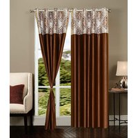 Homesazawat Beautiful Set Of 2 Eyelet Door Curtain(4x7ft) - 6770710
