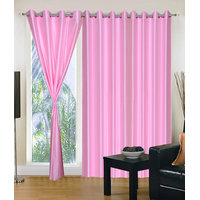 Homesazawat Beautiful Set Of 3 Eyelet Door Curtain(4x7ft)