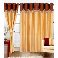 Homesazawat Beautiful Eyelet Door Curtain Set Of 3