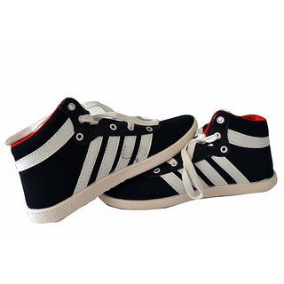 Comfort Cotton Men Shoes In Black-white Color, Bg-a4