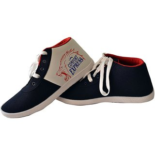 Comfort Cotton Men Shoes In Blue-red Color, Comfort-exp