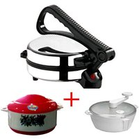 Kitchen Pro Combo Of Eagle Roti Maker ,atta Maker & Caserole