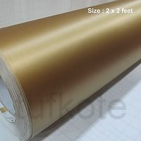 Golden Chrome Brushed Finish Vinyl Sticker Sheet Decal Styling 24 X 24 Inches