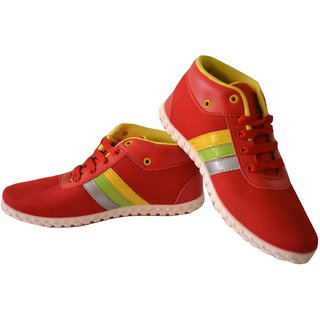Ikon Men Shoes In White-red Color, Roxy