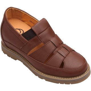Dvano Brown Slip-On Casual Elevator Shoes
