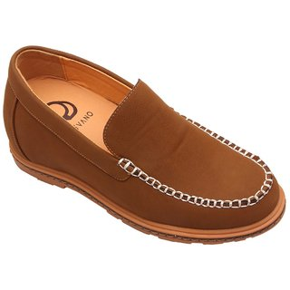 Dvano Tan Brown Casual Elevator Loafers