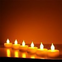 Flameless Candle From Divine Miracles Set Of 6 - LED T-lite Candles
