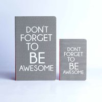 Doodle Paper Set Be Awesome Diary A5 Stationary Notebook  Paper Soft Bound Multicolor