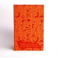 Doodle Kiddia Favourites Diary A5 Stationary Notebook Soft Bound Orange