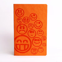 Doodle Social Smiley Diary A5 Stationary Notebook Soft Bound Orange